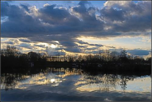 2 Reflections at sunset-