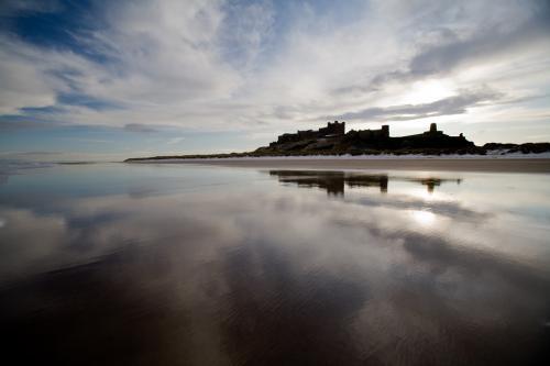 3 bamburgh castle reflection