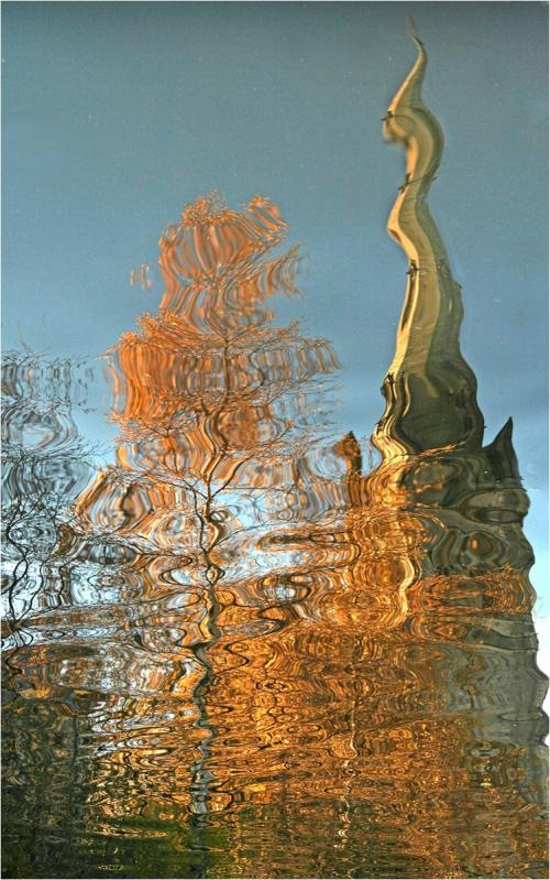 3 Cathedral Spire Reflections