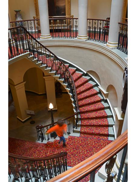 Beginners Print 2nd place Culzean interior staircase Vic Crumley